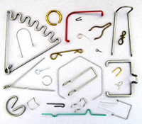 D.R. Templeman: Picture of Various Rings & Wire Forms